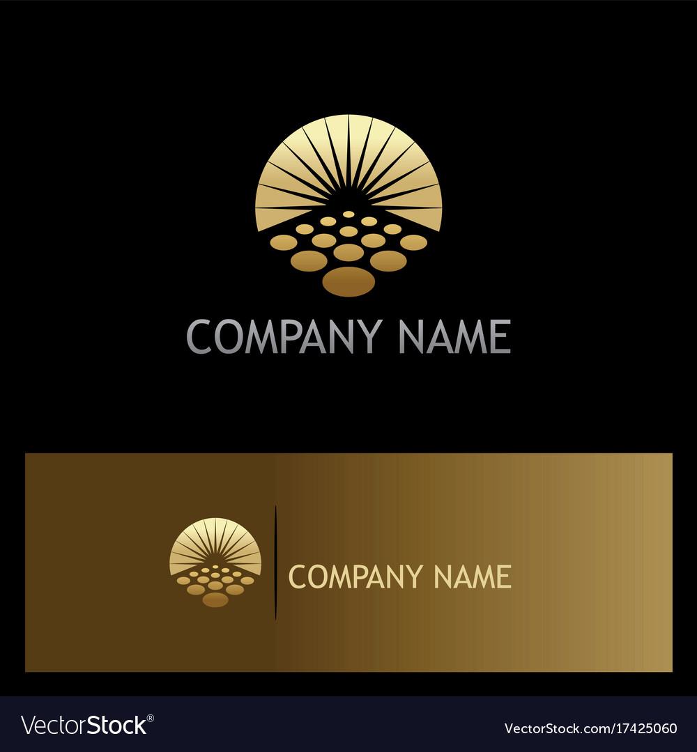 Sun solar horizon gold logo