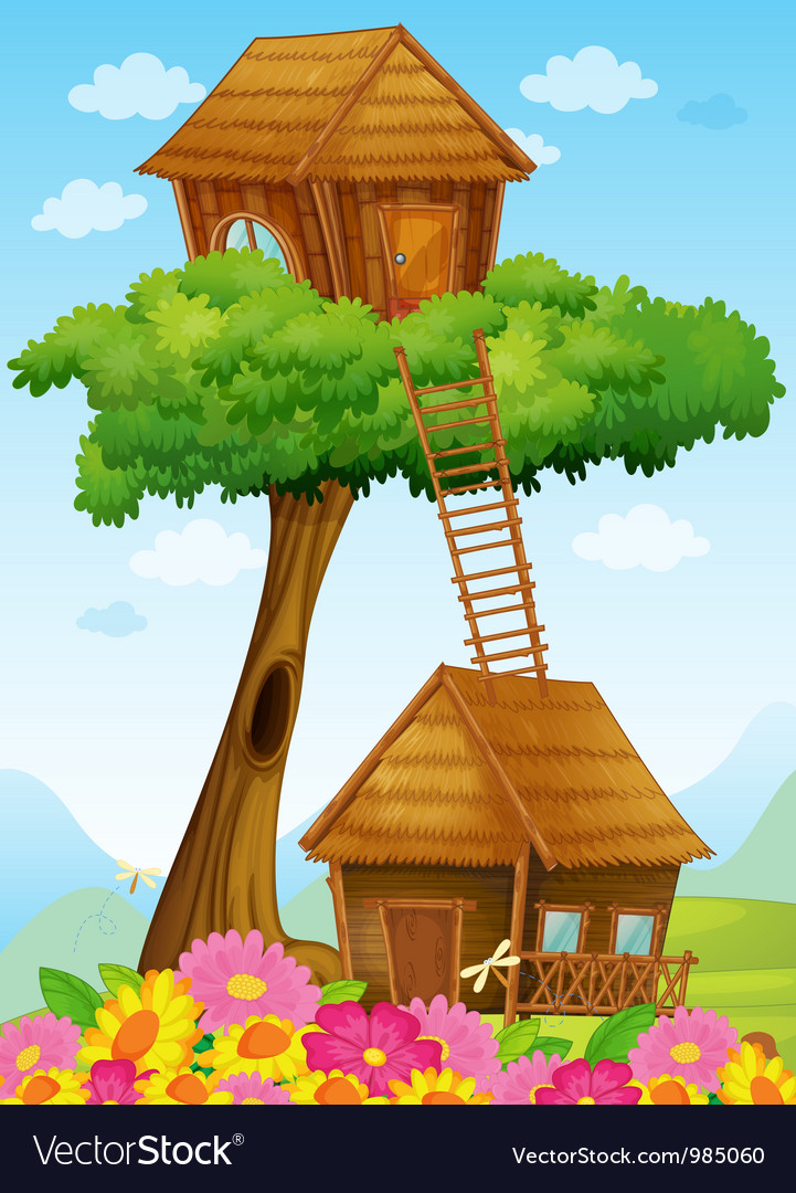 Tree house and Hut