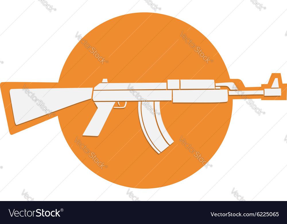Automatic gun symbol