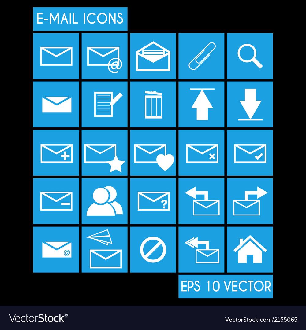 E-mail Icon Set vector image