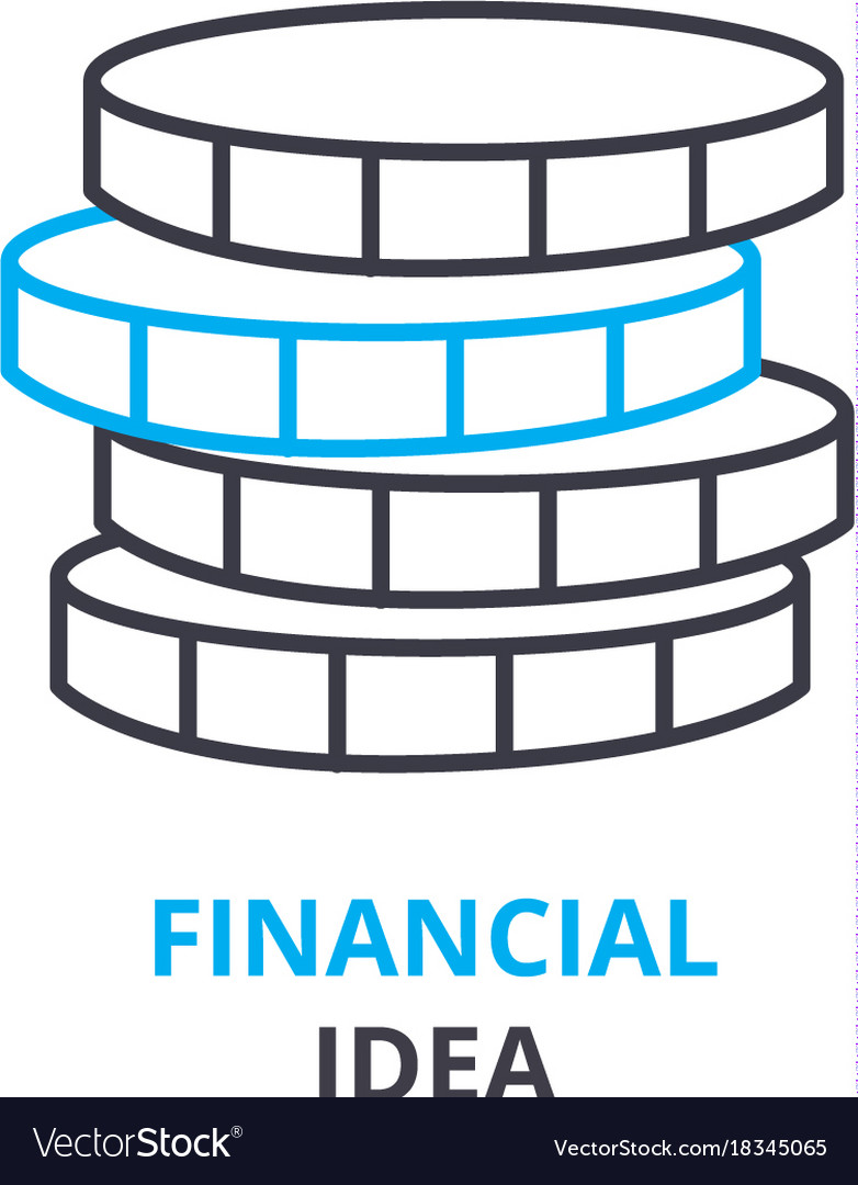 Financial idea concept outline icon linear sign