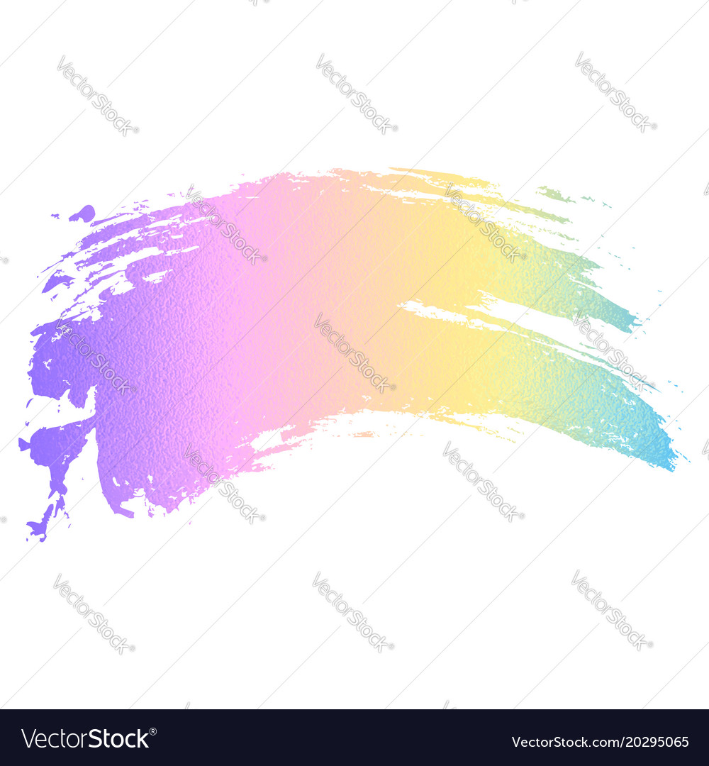 holographic color paint brush royalty free vector image