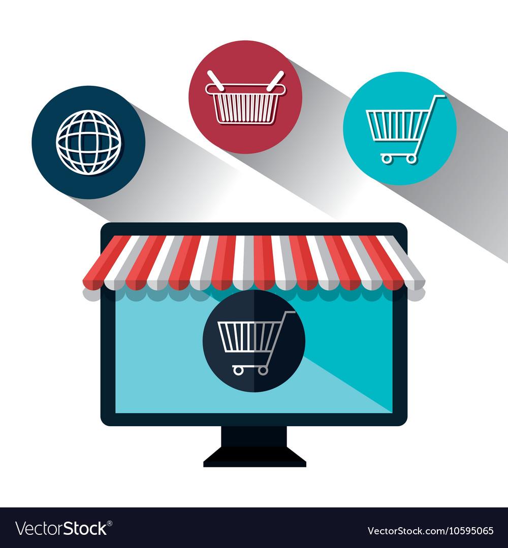 Monitor pc e-commerce shop online design