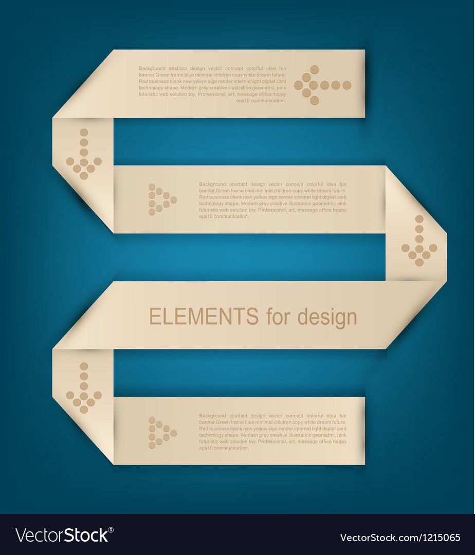 Paper design element for business