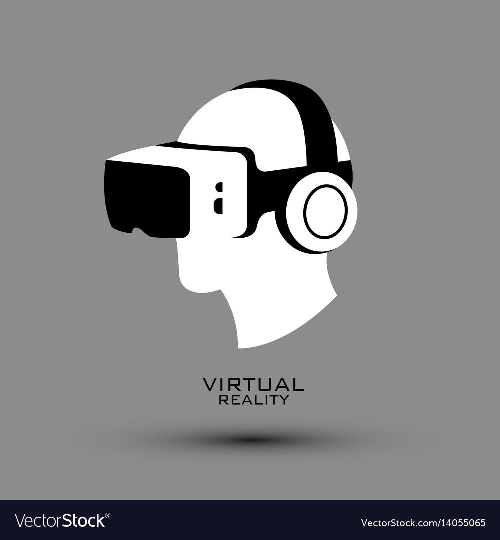Virtual reality headset icon flat icon logo