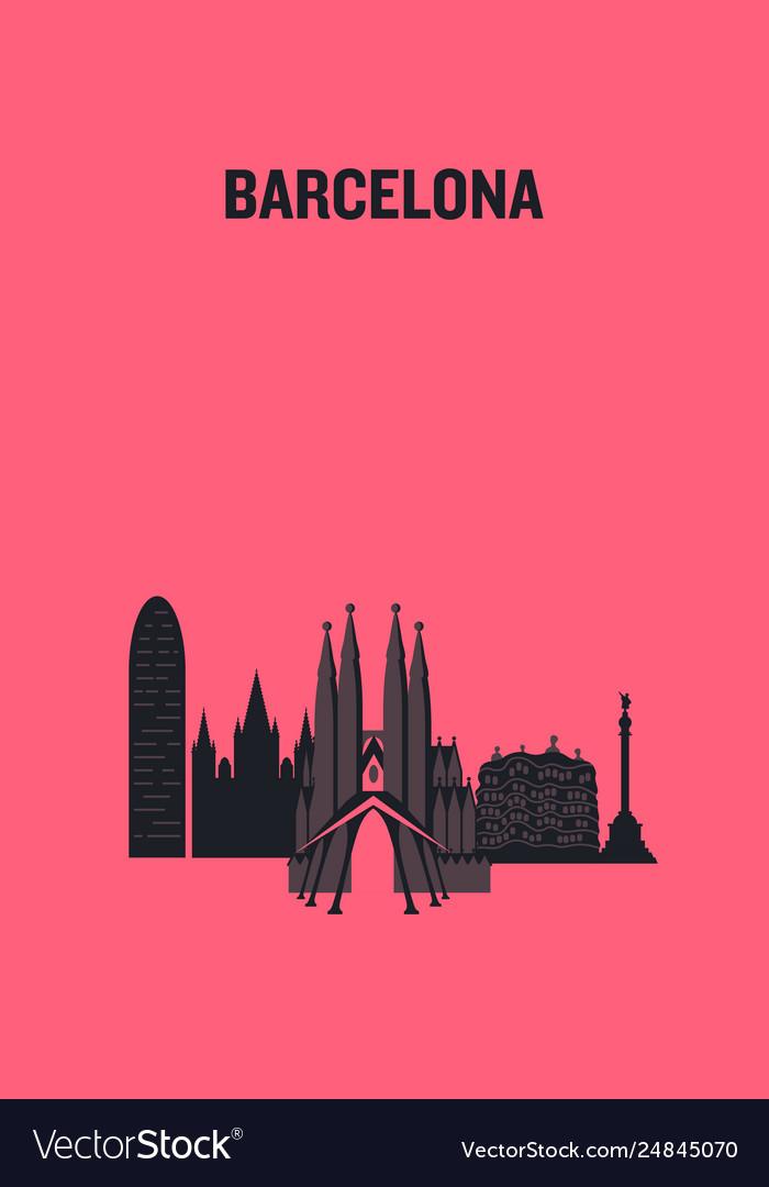 Barcelona art design concept