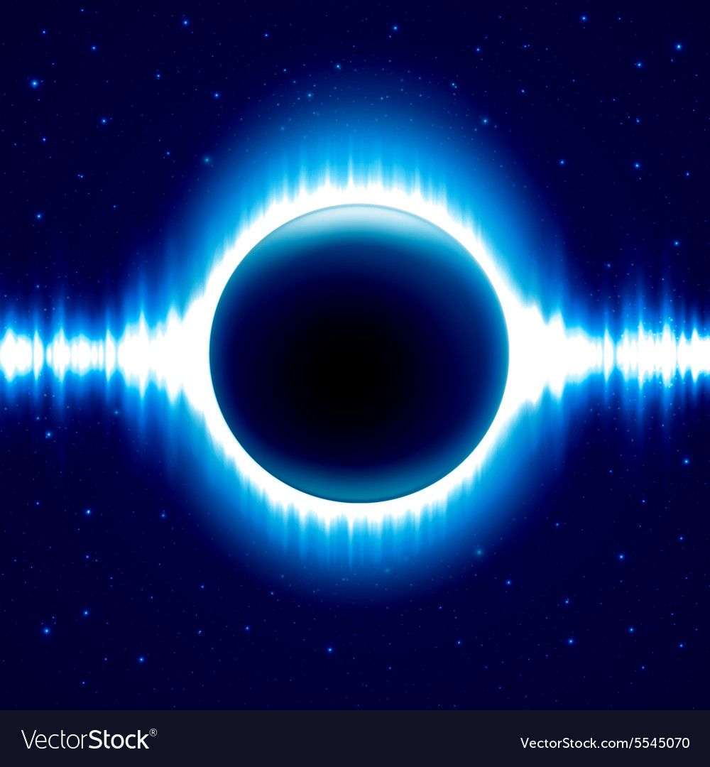 Dark blue colored space background with beautiful