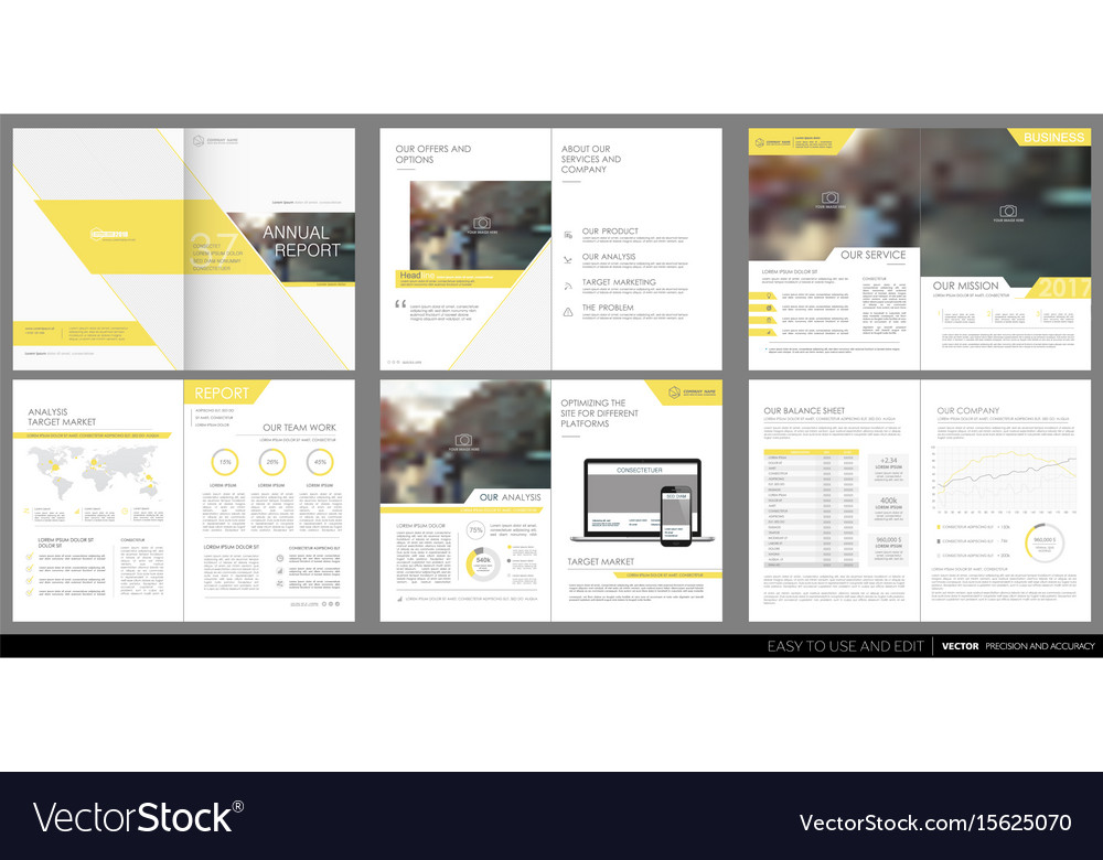 Design Annual Report Template Brochures Royalty Free Vector