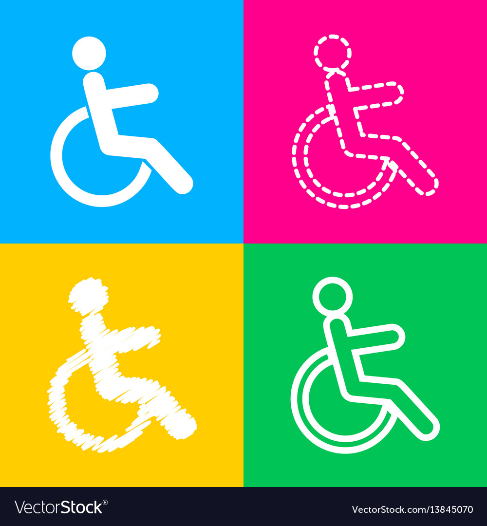 Disabled sign four styles of icon on