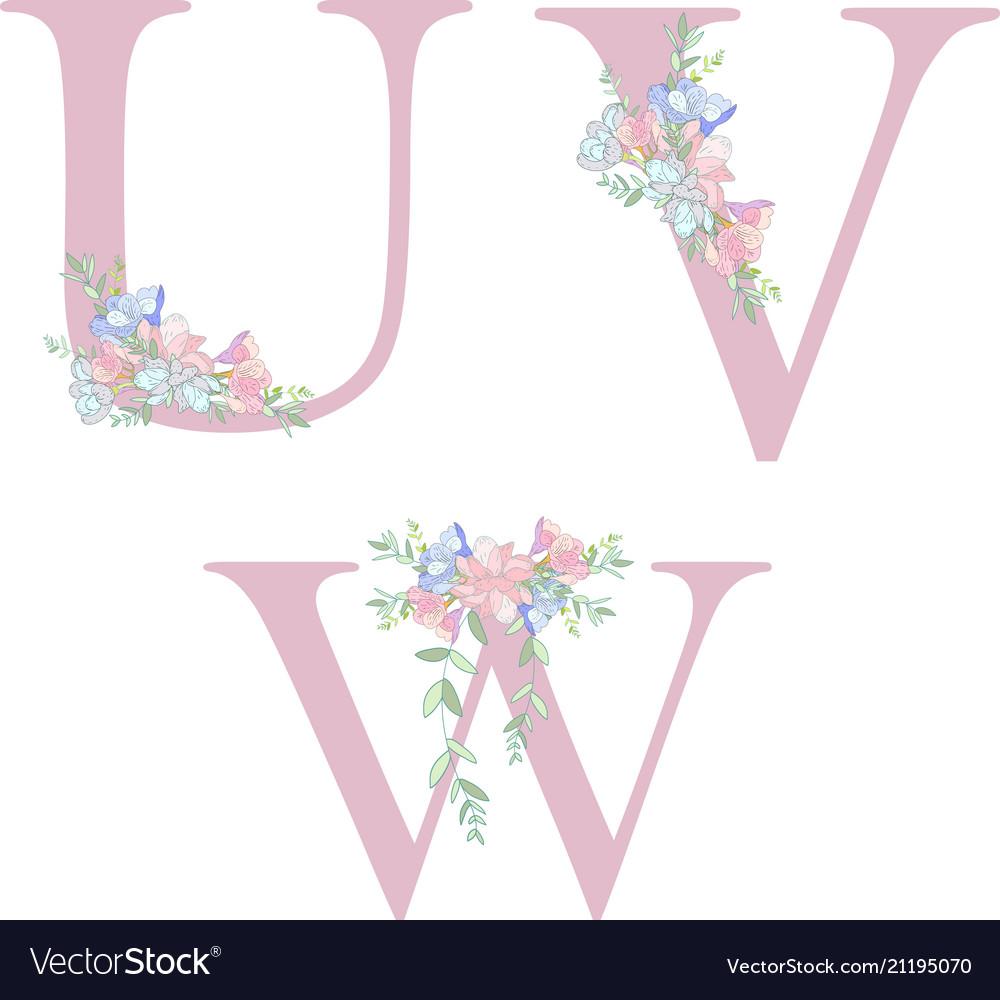 Flower Alphabet Letter C Royalty Free Vector Image