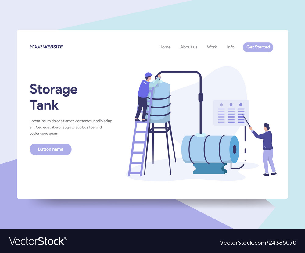 Landing page template of oil storage tank