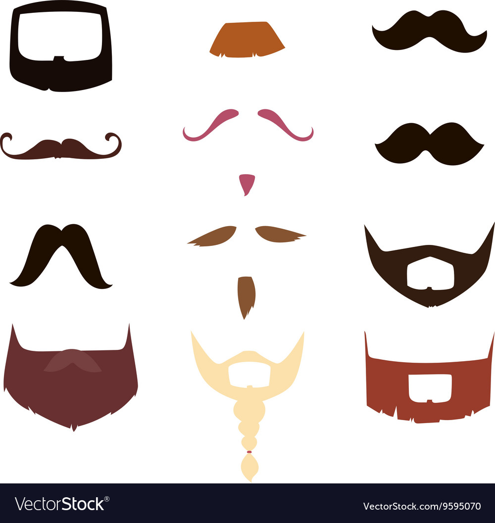 Mustache silhouette isolated