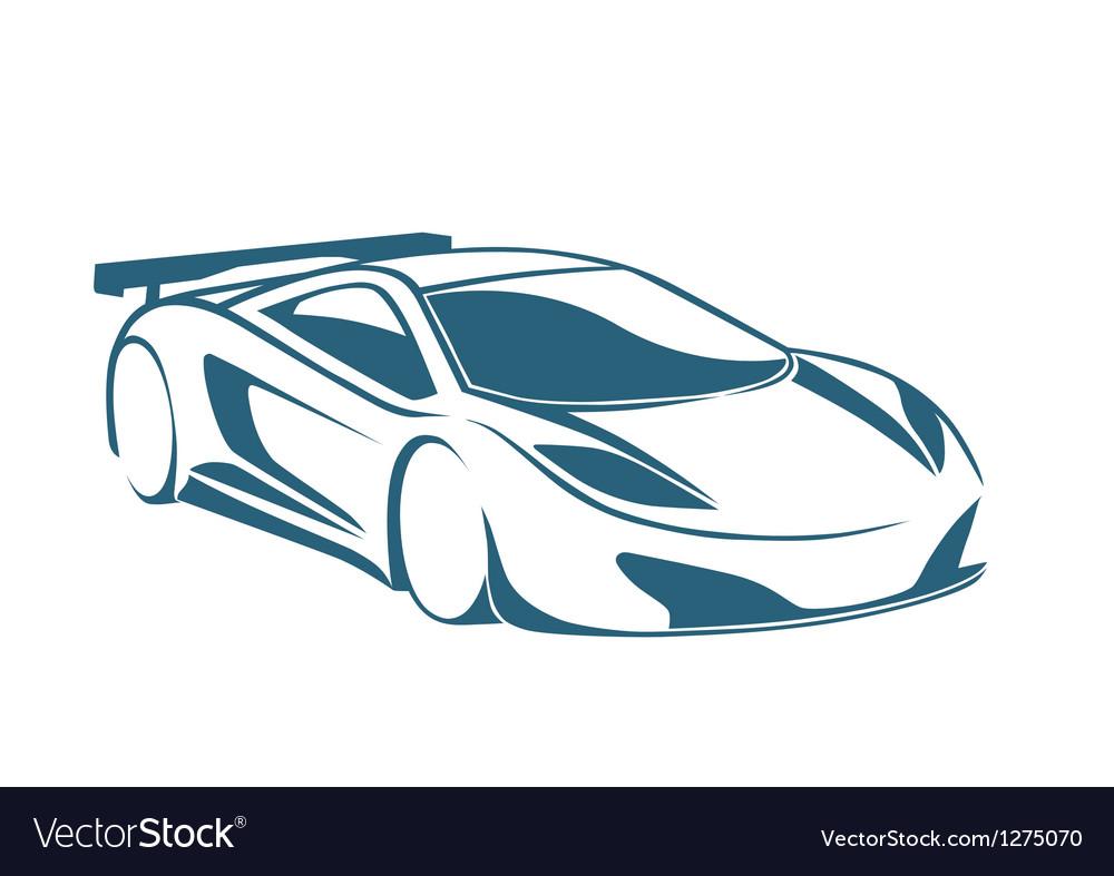 Racing auto logo and speed