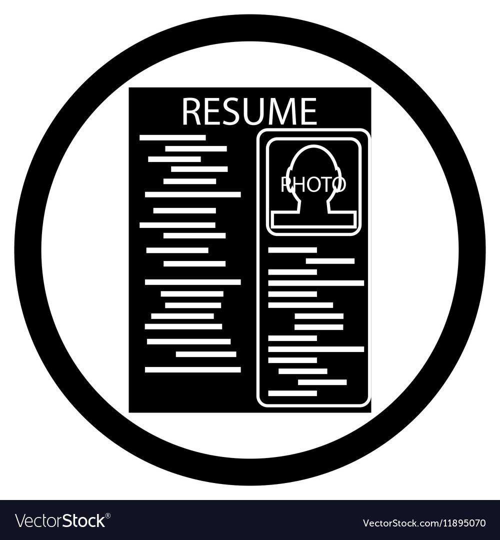 resume black white icon royalty free vector image