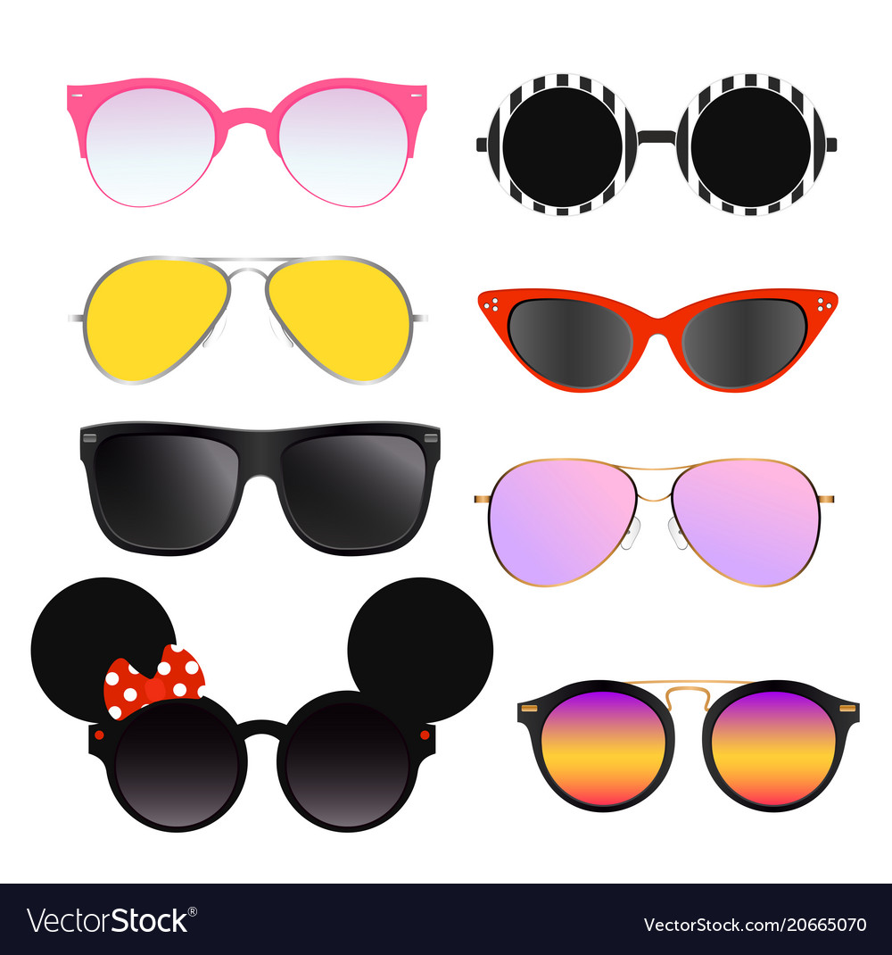Set of colorful sunglasses