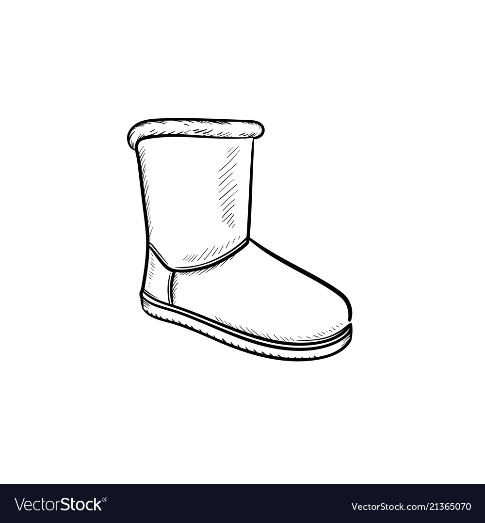 Soft boot hand drawn outline doodle icon