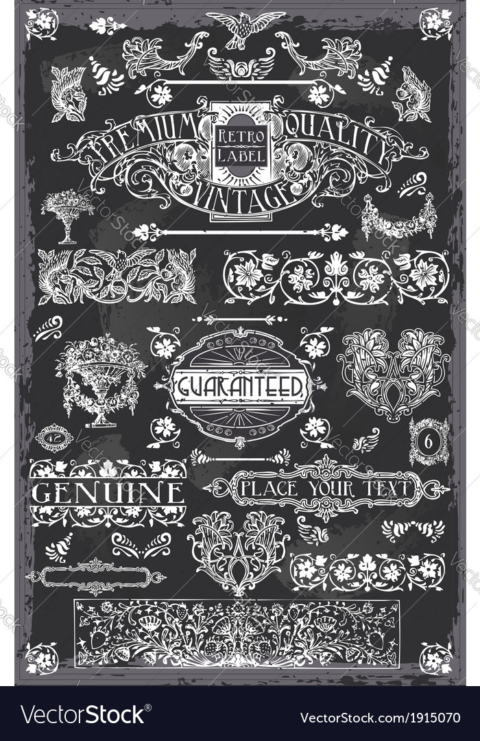 Vintage Blackboard Hand Drawn Banners