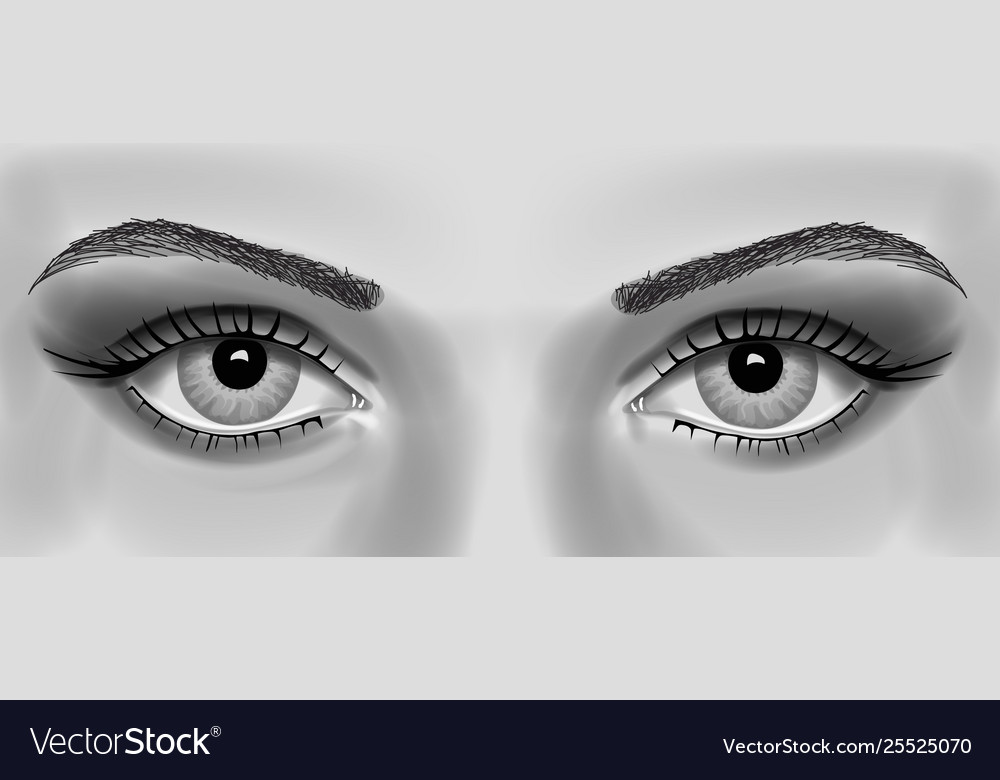 Womens eye realistic