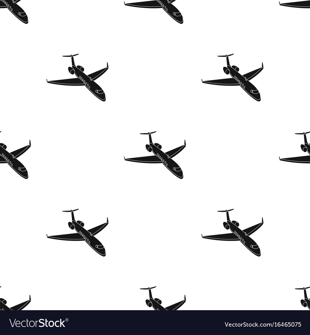 Airplane icon in black style isolated on white