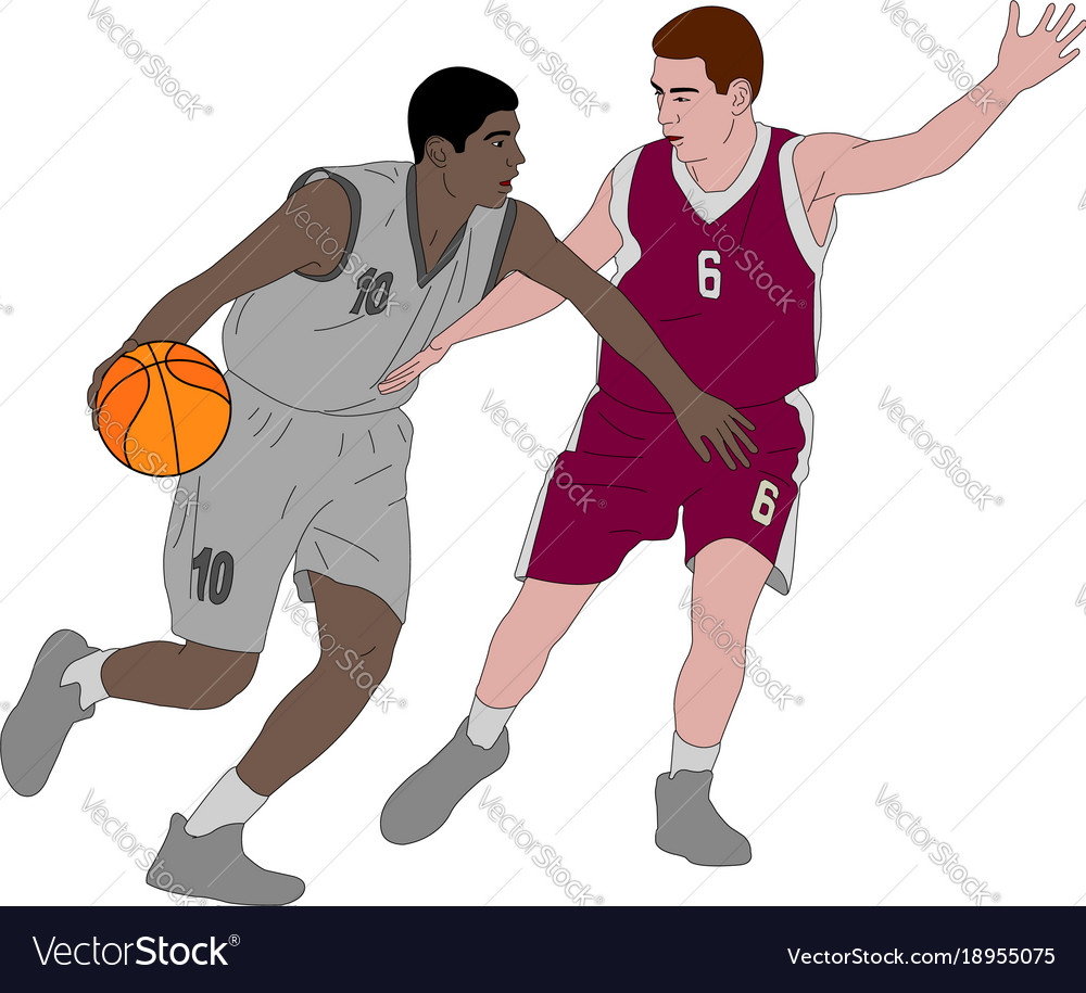 basketball players royalty free vector image vectorstock rh vectorstock com basketball player vector free nba player vector
