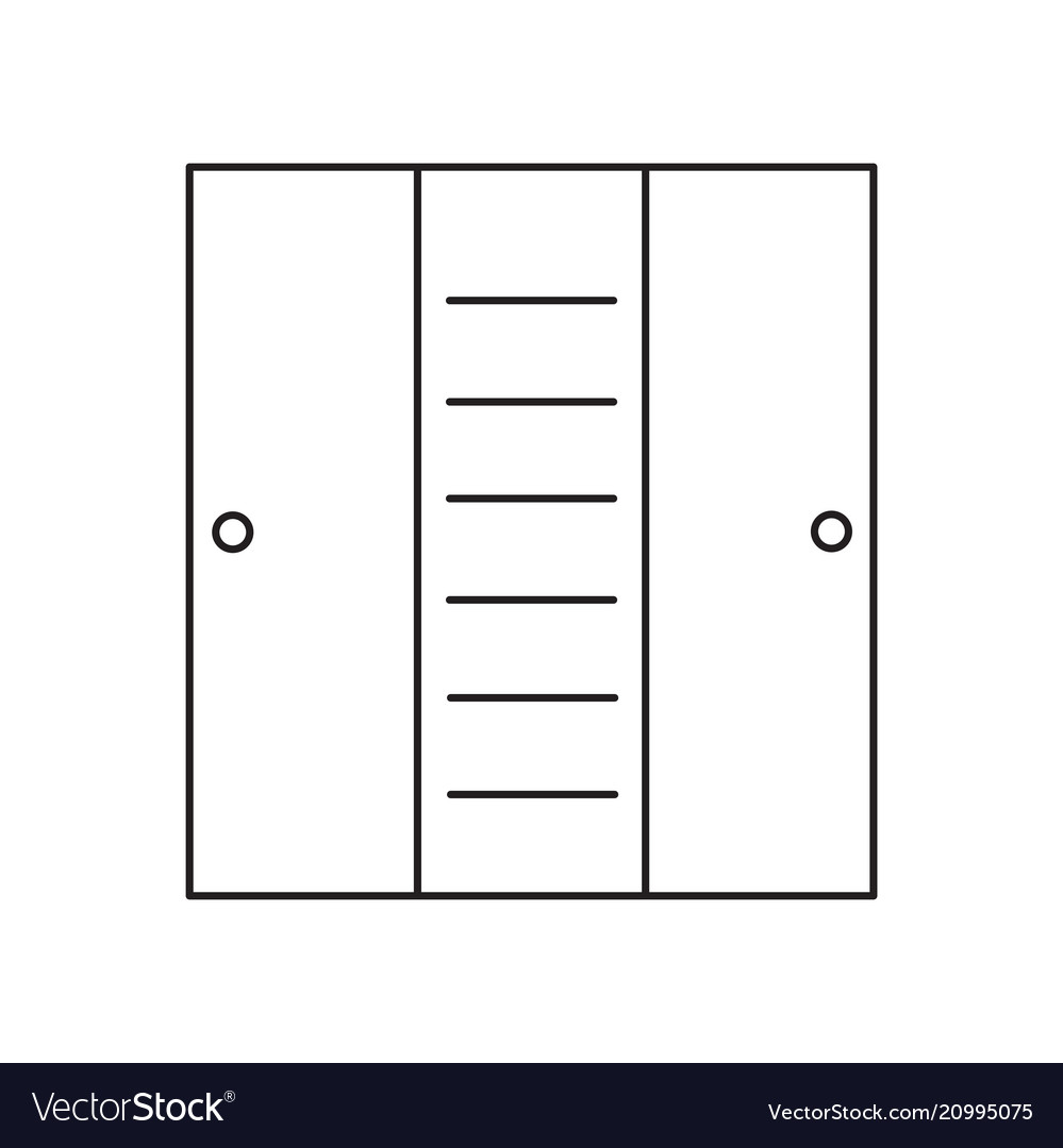 Cupboard line icon