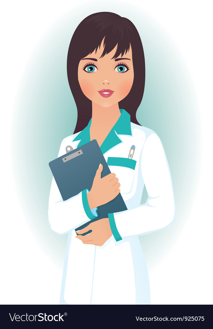 Doctor woman vector image