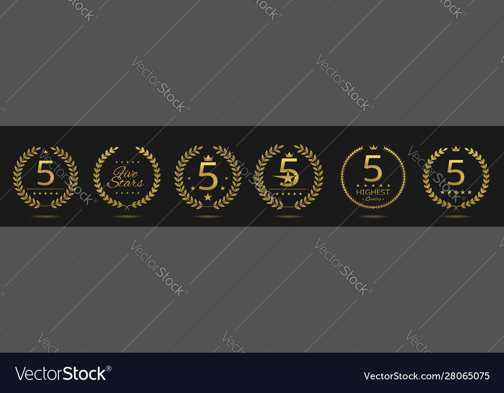 Five star badge set