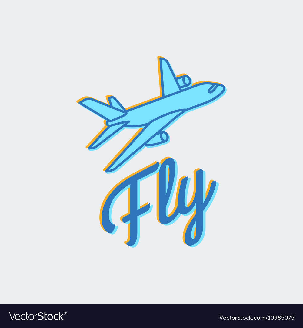 travel or airplane logo icon royalty free vector image