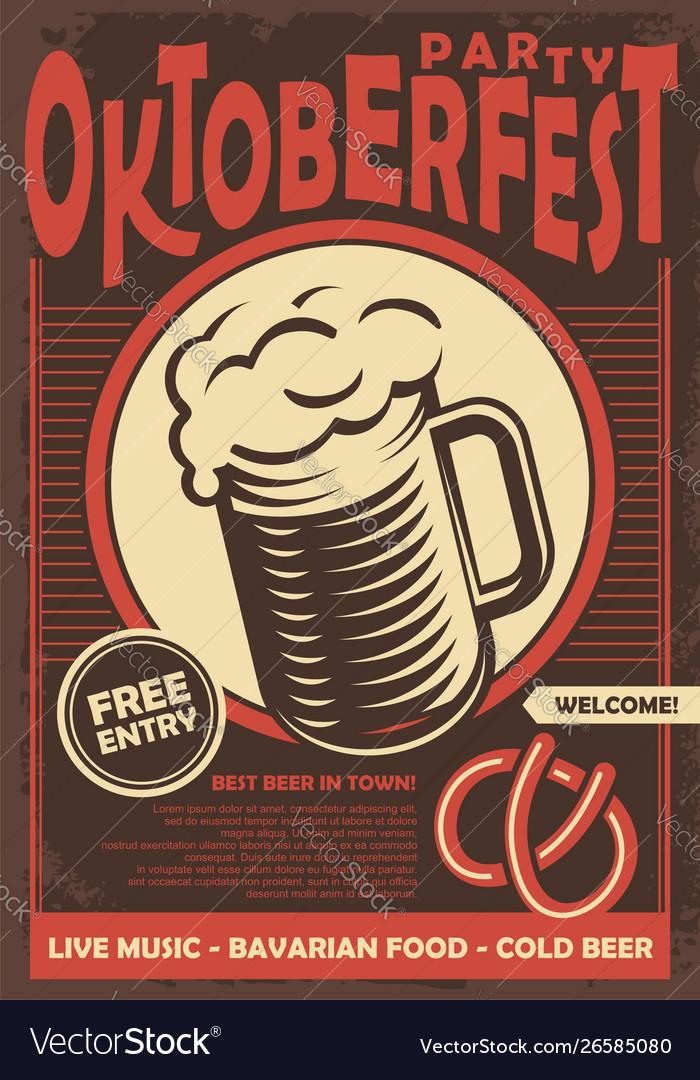 Beer fest promotional poster design