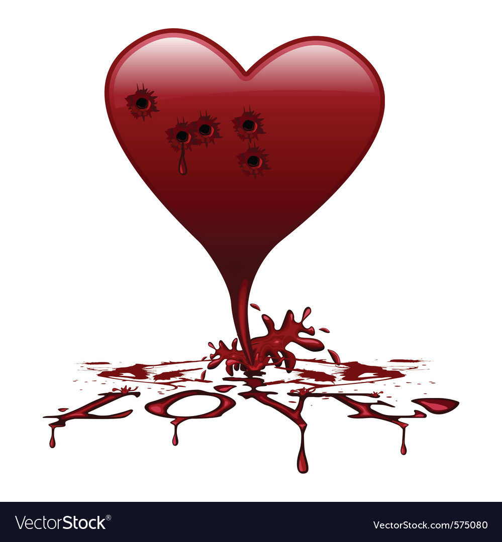 Bleeding Heart Royalty Free Vector Image Vectorstock