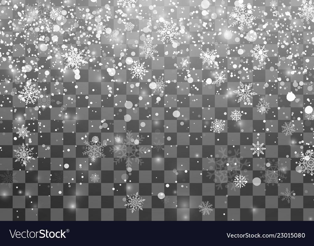 Christmas snowfall template falling snowflakes on