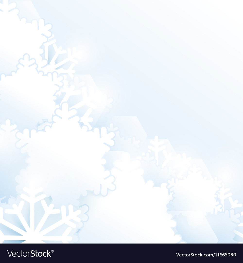 Christmas snowflakes background Paper style