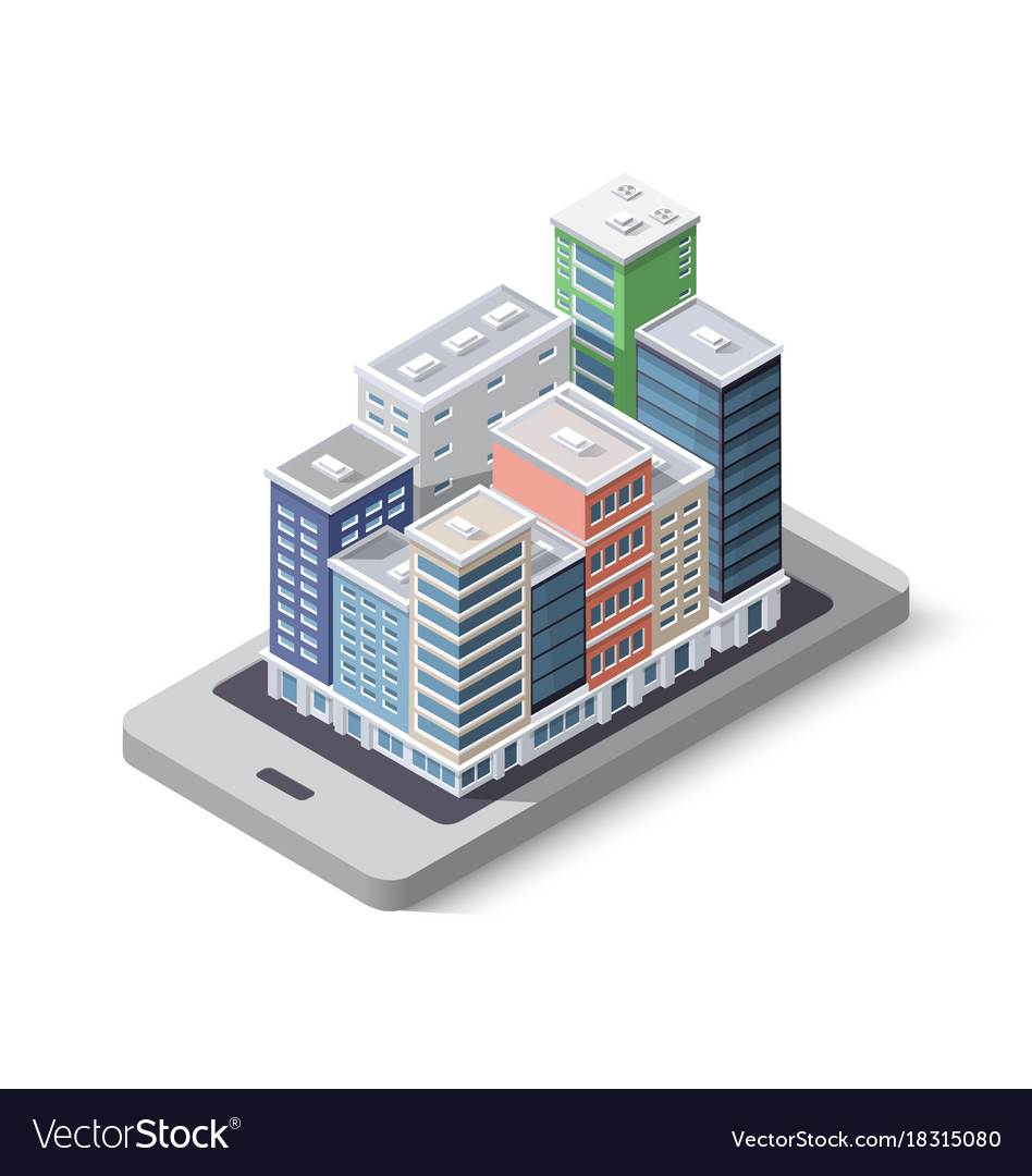 City phone concept business vector image