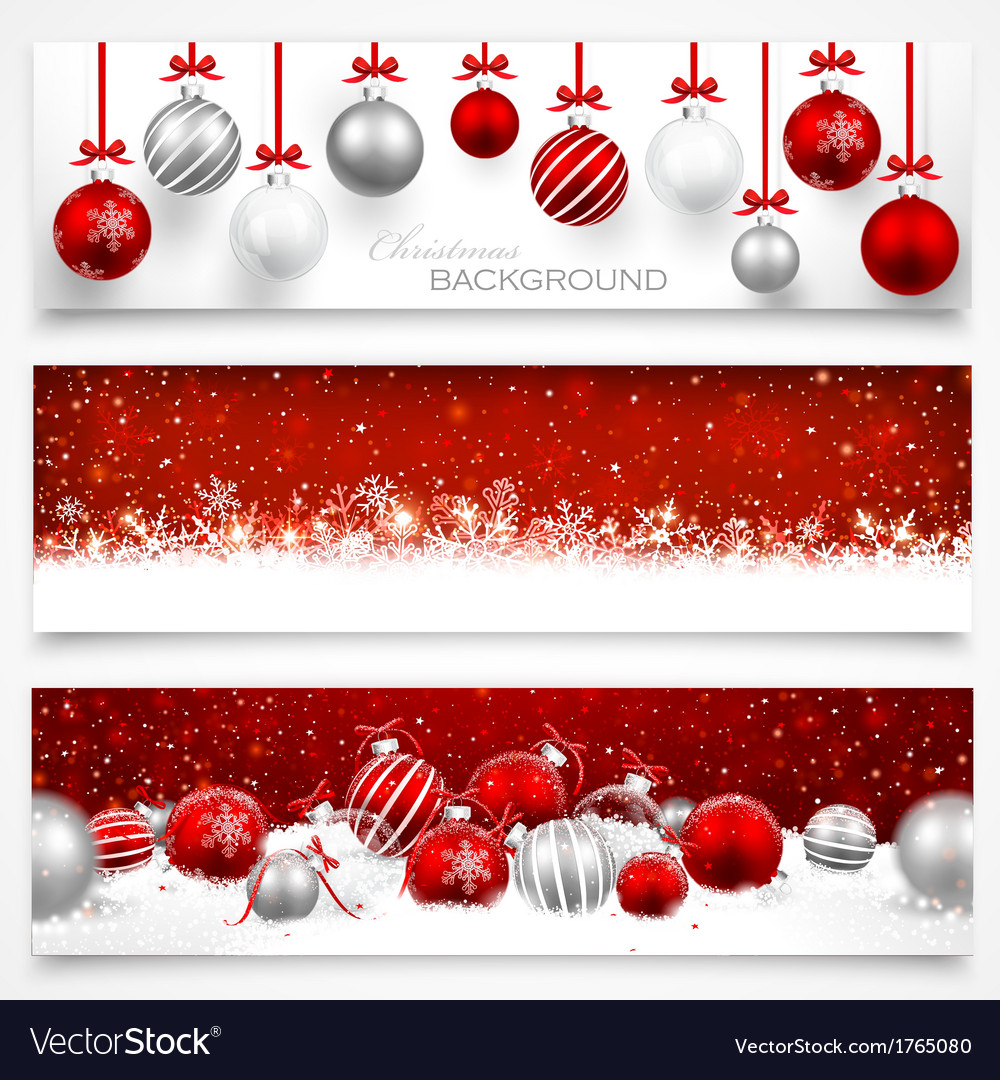 Collection of Christmas banners Royalty Free Vector Image