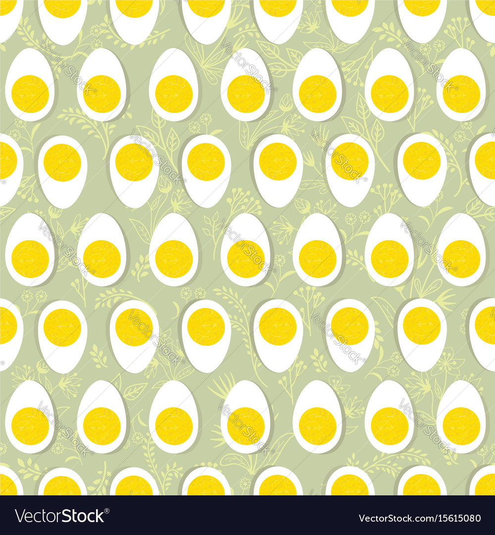 Eggs seamless ornament easter food tile floral