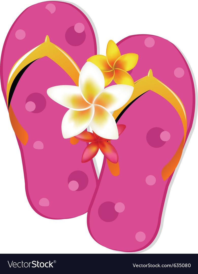 553739fe4235 Flip flop sandals Royalty Free Vector Image - VectorStock