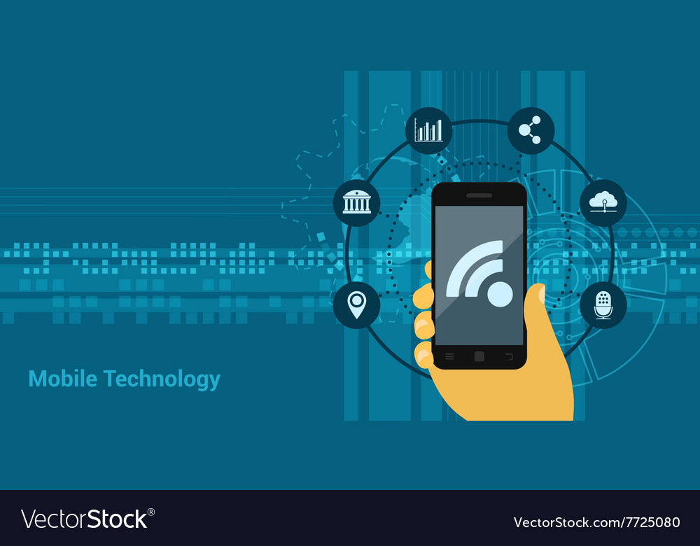 Mobile technology vector image