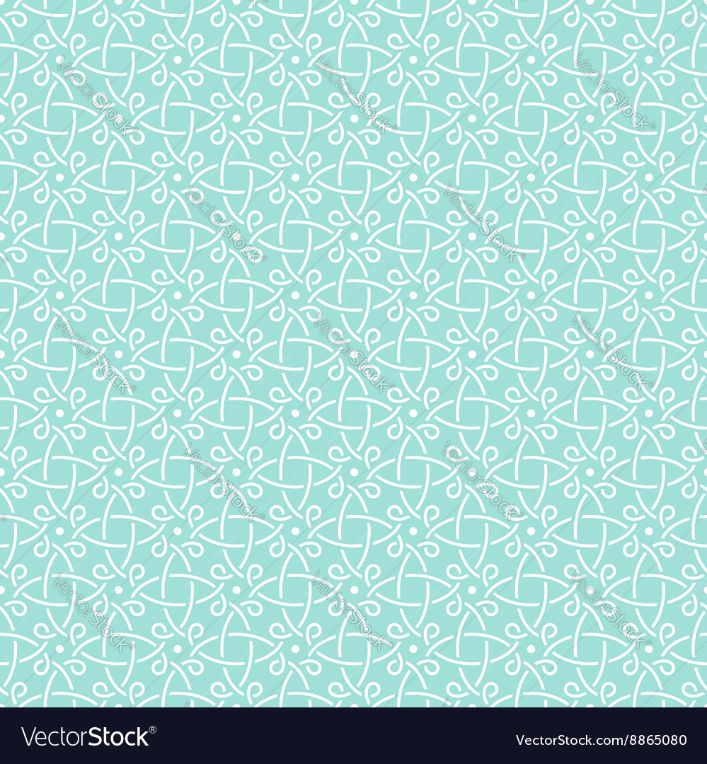 Pattern mint geometric celtic