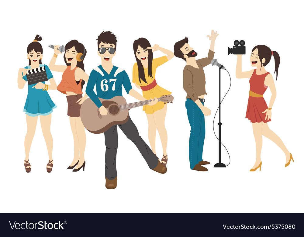 Set of Singer and musicians eps10 format