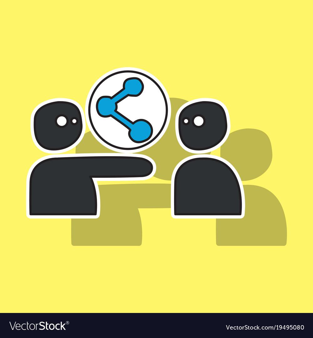 Share icon in sticker design vector image