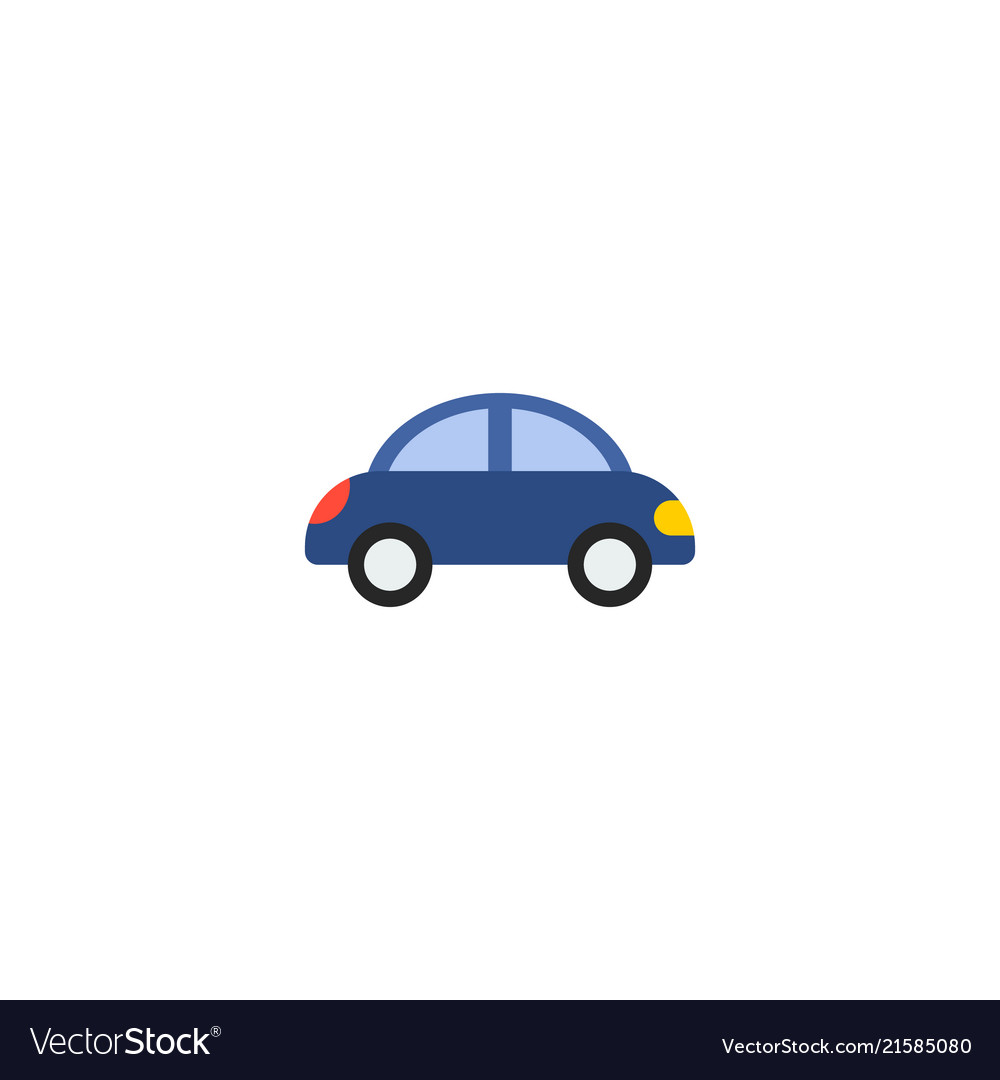 Toy Car Icon Flat Element Of Royalty Free Vector Image