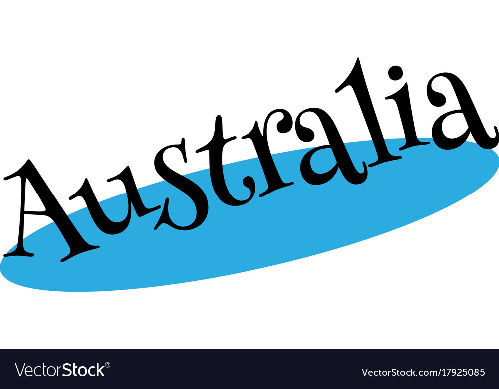 Australia rubber stamp