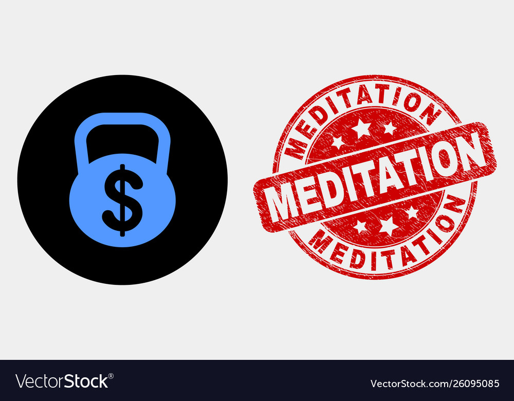 Dollar weight icon and distress meditation