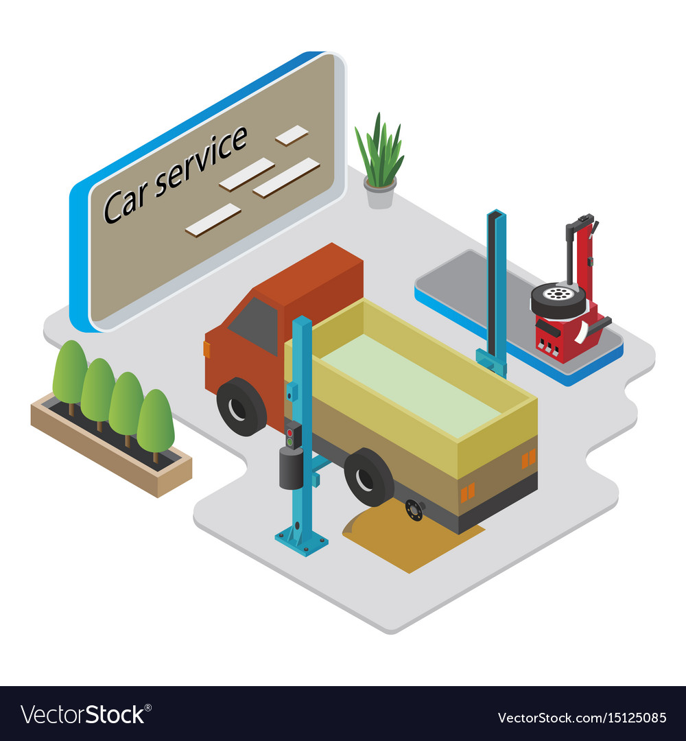 Isometric car service composition