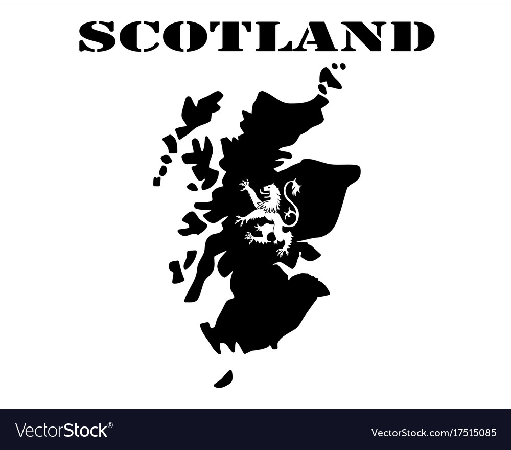 Map Of Scotland And The Symbol Royalty Free Vector Image