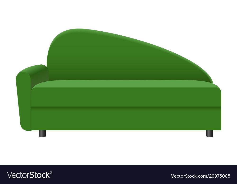 Modern green sofa mockup realistic style