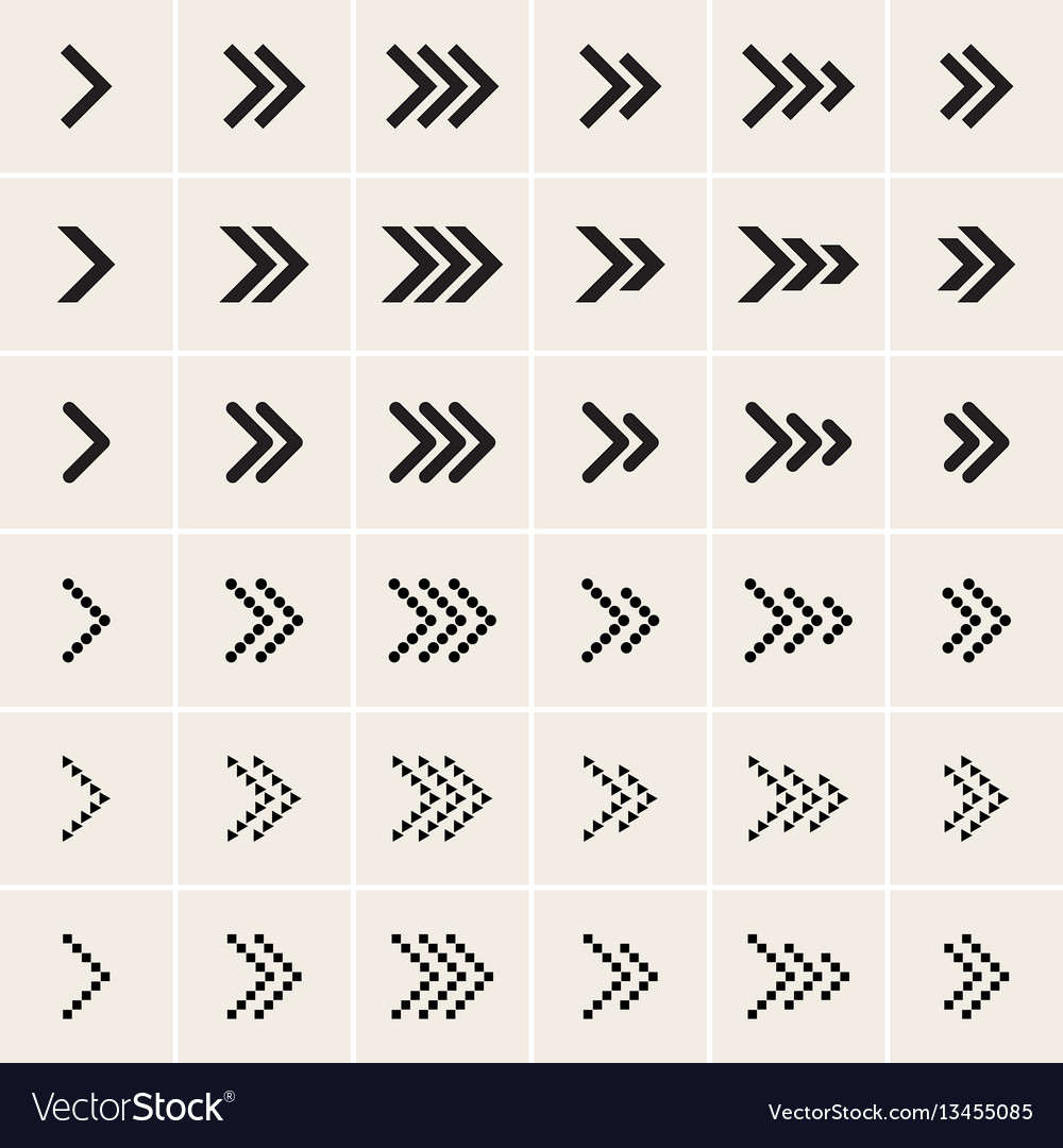 Ser of arrow icons vector image