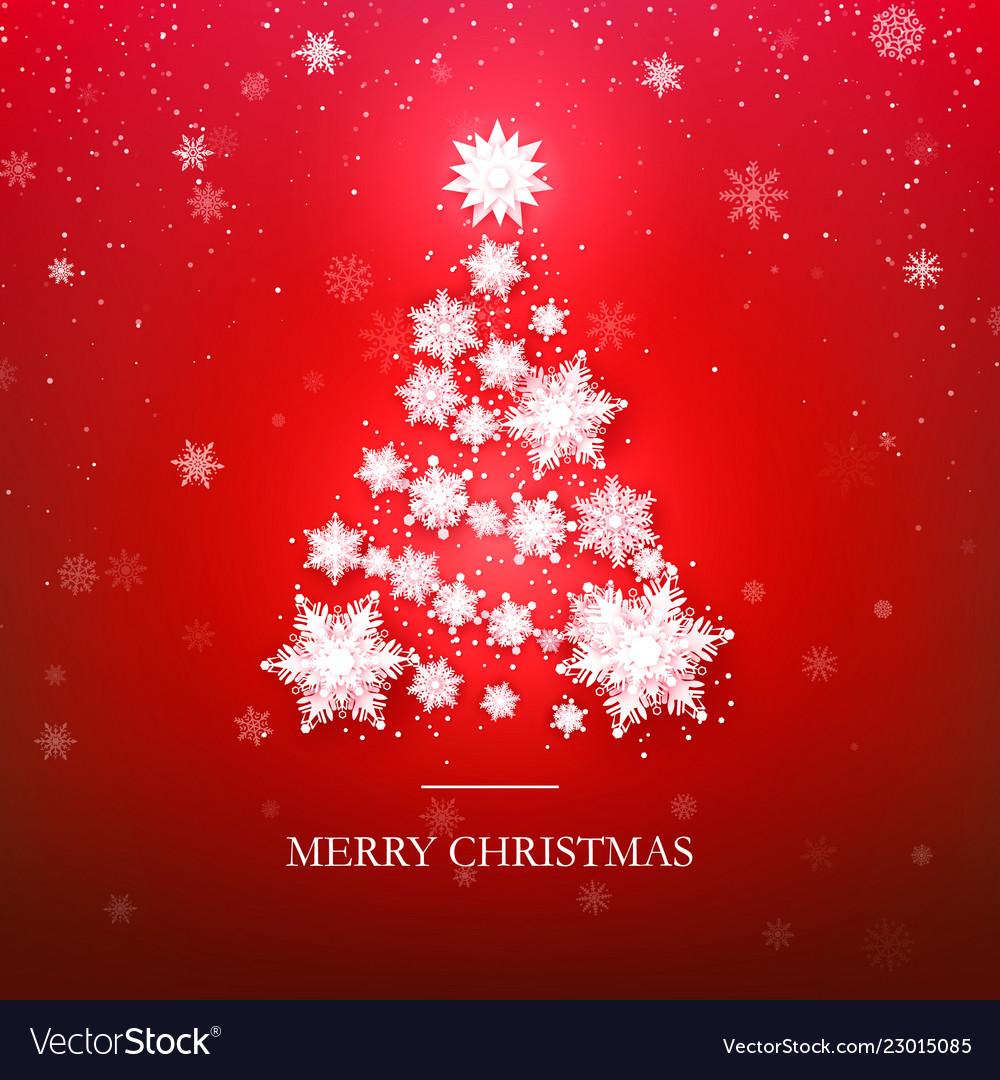 Snowflake christmas tree design paper snowflakes