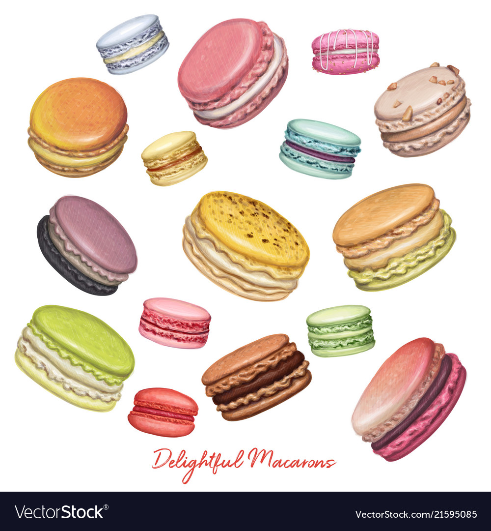 Sweet delicious french macarons