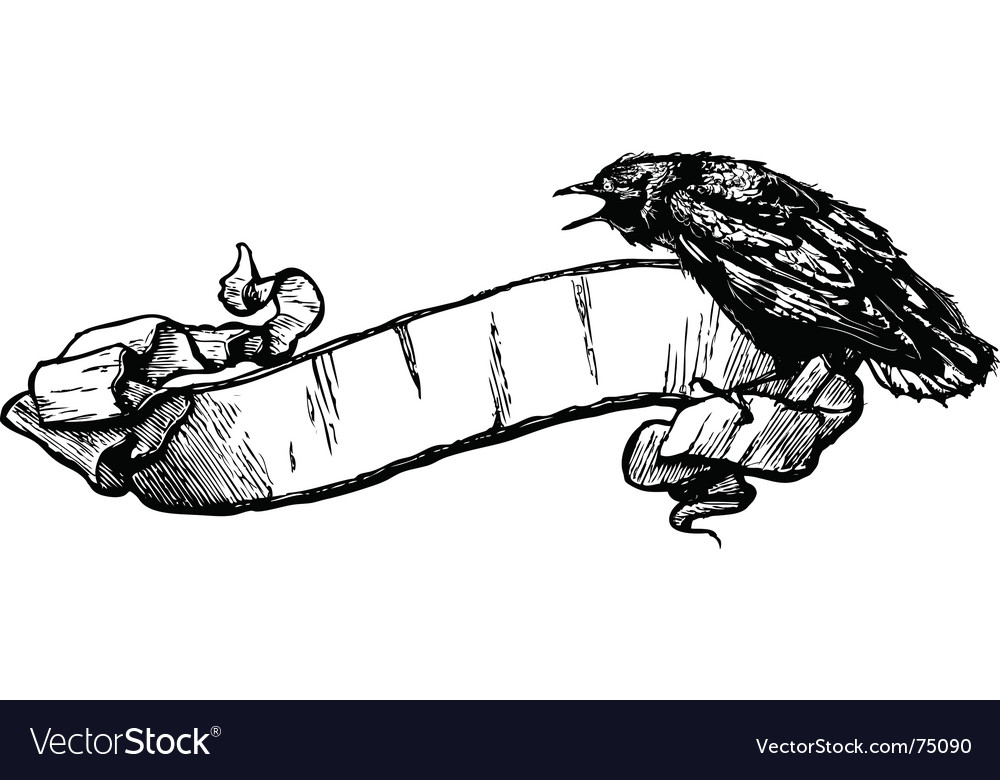 Crow banner illustration vector image